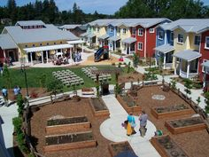Cohousing is an innovative approach to housing where private homes are clustered around extensive common facilities in a walkable environment.  Cohousing principles can include a community garden, common house, and abundant open space, encouraging all residents to come together to build their community.