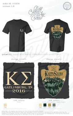 Kappa Sigma | Arrowhead T-Shirt Design | Fraternity Retreat | Brotherhood | South by Sea | Greek Tee Shirts | Greek Tank Tops…