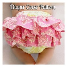 TIPS/SEWING RELATED - Sew a regular or ruffled diaper cover with this ruffled diaper cover pattern. This is a sewing pattern to make your own ruffled diaper covers. The ruffles are optional, so you could easily make this d Onesie Pattern, Diaper Cover Pattern, Ruffle Diaper Covers, Pants Pattern, Baby Clothes Patterns, Baby Patterns, Clothing Patterns, Blanket Patterns, Dress Patterns