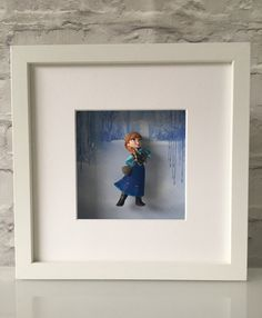Disney Frozen Anna Figure Boxed Frame Wall Art by BenjoCreations