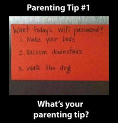 Parenting Tip for Teenagers Ooh! Love this!! I can see this being very effective!!