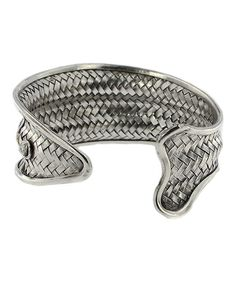 Look at this Sterling Silver Woven Fish Cuff on #zulily today!