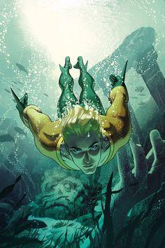 Aquaman by Joshua Middleton - Visit to grab an amazing super hero shirt now on…