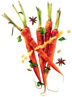 Vegetable main dishes worthy of the spotlight - carrot dish is easily made dairy-free with vegan butter (less is more.)