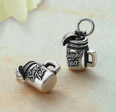 """Sweet Tea"" Charm from James Avery Jewelry. I've been known a Sweet Texas T for a long time online. LOL"