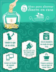 5 ideas para ahorrar dinero en casa. Tu Casa Express #Dinero #FinanzasPersonales