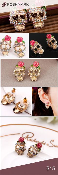 ONLY this weekend ❗️ Skull earrings Fashion and cute earrings! Just in time ! ❌no offers Jewelry Earrings