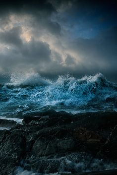 Nice to meet you. : Photo … Nice to meet you. No Wave, Ocean Photography, Landscape Photography, Sea Storm, Stormy Sea, Stormy Waters, All Nature, Sea Waves, Sea And Ocean