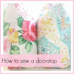sewhungryhippie: Sewing Tutorial: make a door stop with a zipper #FabricCutter Easy Sewing Projects, Diy Craft Projects, Sewing Crafts, Diy Crafts, Craft Ideas, Quilting Tutorials, Sewing Tutorials, Sewing Ideas, Fabric Door Stop