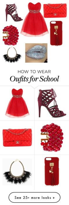 """""""prom at school"""" by aytannyarichards on Polyvore featuring Dorothy Perkins, G by Guess, Chanel, Henri Bendel and Stella & Dot"""