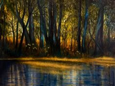 """""""Dawn Light"""", oil on canvas, 121 cm. by Cathy Yarwood-Mahy Dawn, Oil On Canvas, Artwork, Paintings, Work Of Art, Auguste Rodin Artwork, Paint, Painting Art, Artworks"""
