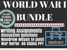 WWI World War I Bundle