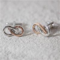 Infinity Cufflinks / Wedding cufflinks / Groom Gift  ' Usher Gift