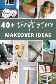 Whether it is something that you could just use a fresh coat of spray paint to liven it up or something that needs to be completely reinvented for another use - you're bound to find SOMETHING that is perfect for your home. Get inspired to upcycle something from the thrift store with these 40+ thrift store makeover ideas. Diy Christmas Village, Foam Pumpkins, Thrift Store Crafts, Grey Wood, Gray, Boho Diy, Affordable Home Decor, Baskets On Wall, Pumpkin Decorating