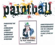Ha ha! The concept of playing Post-funeral paintball. Actually, just a rather misleading poster. ;)
