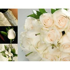 Sam's Club Flowers Wedding Collection - White - 17 pc.  Item #: 929285  319.00 Collection Includes:  1 Bridal Bouquet 4 Bridesmaid Bouquets 1 Toss Away Bouquet 6 Boutonnieres 4 Corsages 1 box of Rose petals 1Clippers