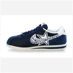 innovative design 8d659 6ffa9 Bandana Fever Bandana Dallas Cowboys Big Print Custom Navy White Nike  Cortez Shoes