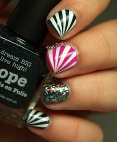 piCture pOlish Blog Fest mani art by The Nailasaurus!  Features Hope, Blogger & Mad Magenta  www.picturepolish.com.au