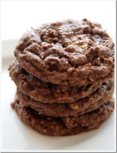 Salted Chocolate Peanut Butter Chunk Oatmeal Cookies