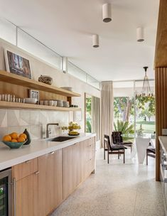 Terrazzo Flooring, Kitchen Flooring, Mid Century House, Palm Springs, Kitchen Remodel, Kitchen Design, Sweet Home, New Homes, House Design