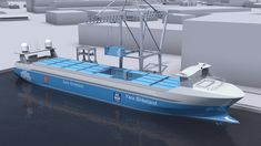 MacGregor and Kongsberg Maritime have entered into an agreement where MacGregor will deliver an automated mooring system for the world's first autonomous container ship, Yara Birkeland. European Transport, Ecommerce, Cargo Transport, Sustainable Transport, Gantry Crane, Concept Ships, Energy Storage, Set Sail, Marketing Digital