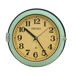 Mid-Century Mint Green Naval Clock by Seiko C1965  Check with Customer Service about available quantities.