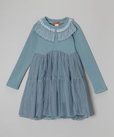 Another great find on #zulily! Seafoam Green Lace Dress - Toddler & Girls by Funkyberry #zulilyfinds