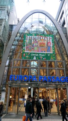 Opened in 2006, The Europa Passage in downtown Hamburg is an impressive shopping mall that manages to successfully blend architecture, arts, culture, and, of course, retail.