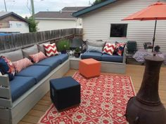Outdoor Platform Sectional | Do It Yourself Home Projects from Ana White