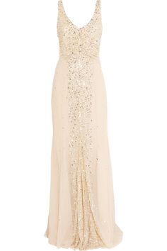 Dreaming of a day opportunity permits this Rachel Gilbert gown from Net-a-Porter