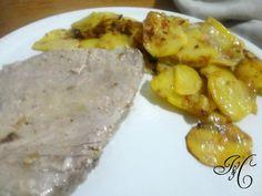 Trancio di tonno con cipolle e patate!!!