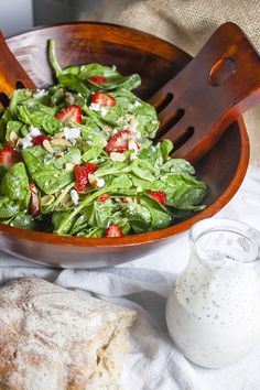 """""""Home Sweet Jones"""" Strawberry, Spinach, Goat Cheese Salad with Poppy Seed Dressing: 3 Weight Watchers PointsPlus Value"""