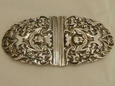 Silver Nurses Belt Buckle hallmarked for Birmingham 1902 [eBay]