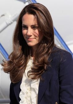 Catherine, Duchess of Cambridge boards a Canadian Airforce jet to Slave Lake on July 6, 2011 in Yellowknife, Canada. The newly married Royal Couple are on the seventh day of their first joint overseas tour.