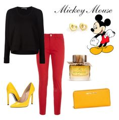 """""""Mickey Mouse"""" by zpdumasia on Polyvore featuring Disney, Love Moschino, T By Alexander Wang, Stuart Weitzman, Tiffany & Co. and Burberry"""
