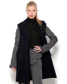 Jean Paul Gaultier Femme Two-Tone Wool Coat - Made in Italy