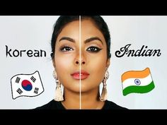 Comparing Indian Makeup along with korean makeup trends. Korean makeup on Dark Indian skin! Indian makeup is usually matte face with Gold eyeshadow . Wedding Day Makeup, Bridal Makeup Looks, Indian Bridal Makeup, Hair Wedding, Indian Makeup Natural, Makeup Tips, Beauty Makeup, Makeup Ideas, Korean Beauty Tips