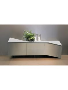 Clio Sideboard with Shining Lacquered Wooden Frame and Doors…