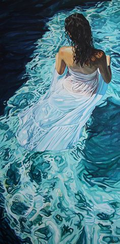 """The Siren"", oil, 48""x24"", private collection, Los Angeles, USA."