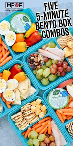 Thank you to GoodCook for sponsoring this Five Bento Box Ideas post, and thank YOU for supporting the brands that help make Meal Prep. The post Five Bento Box Ideas appeared first on Meal Prep on Fleek™, written by Meal Prep on Fleek Lunch Meal Prep, Healthy Meal Prep, Healthy Snacks, Healthy Eating, Healthy Recipes, Lunch Time, No Cook Meals, Kids Meals, Full Meals