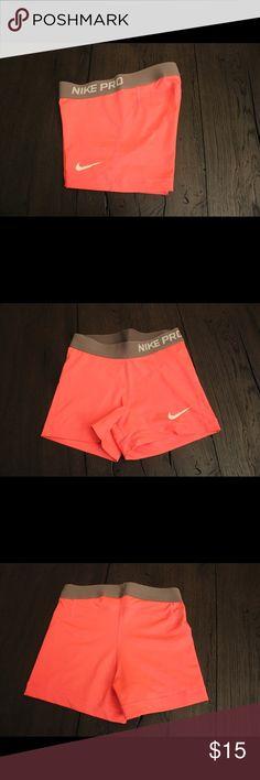 "Bright Pink Nike Pros Women's 3"" Training Shorts. Barely worn Nike Shorts"