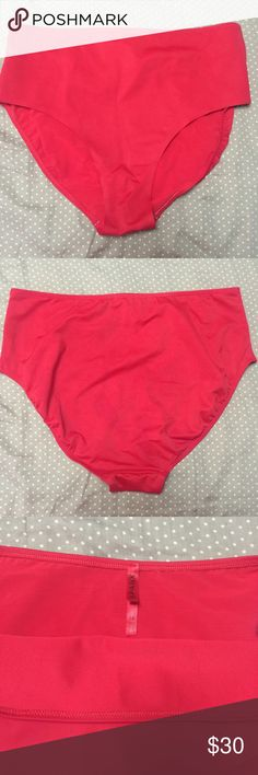 SPANX high-waisted slimming swim bottom GORGEOUS bright cherry red swim bottom by Spanx. Control panel in the front to keep your tummy looking slim and tight! Very soft and comfortable. Full coverage bottom. Don't love the fit on me, but hopefully it's perfect for you instead! Worn once on July 4th only 🇺🇸 & washed per care instructions. 🚫 No Trades, but make me a reasonable offer! SPANX Swim Bikinis