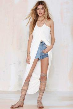 Madison Square Athena Wrap Maxi Dress