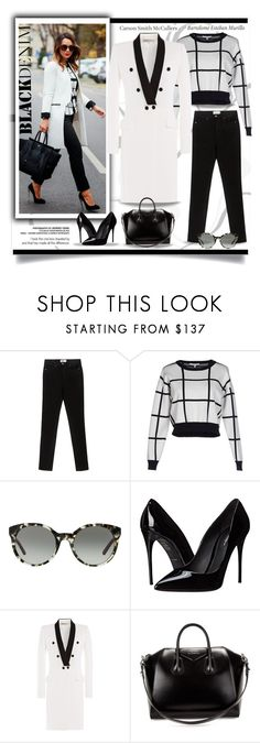 """""""Denim Trend: Black Jeans"""" by affton ❤ liked on Polyvore featuring Paige Denim, Lucy Paris, Tory Burch, Dolce&Gabbana, Tiffany & Co., Emilio Pucci, Givenchy, women's clothing, women's fashion and women"""