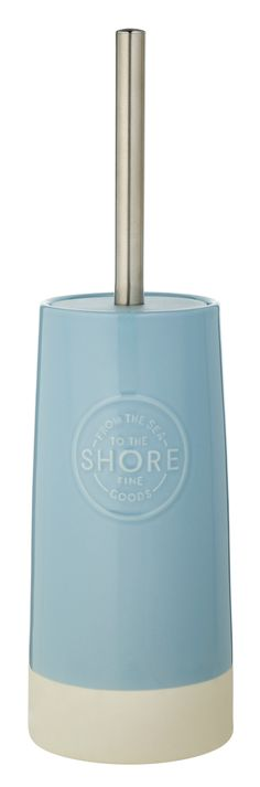 Little additions to your bathroom like this coastal stamp toilet brush can easily lift the room. Priced at £12.