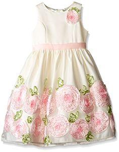 American Princess Big Girls' Ribbon Border Flower Dress - http://darrenblogs.com/2016/03/american-princess-big-girls-ribbon-border-flower-dress/