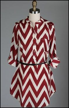FSU (Florida State Seminoles) Chevron Gameday Tunic Dress. Visit  www.gamedaysass.com to order and for other styles. GO NOLES!! dd2692007