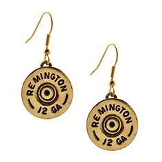Southlife Abigail Single Dangle Earring Gold Plated 12 Gauge Shotgun Shell * You can find out more details at the link of the image. Note: It's an affiliate link to Amazon.