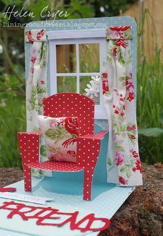 Pop n Cuts 3-D Chair & Window Card (with Tutorial)