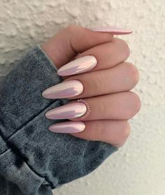 """If you're unfamiliar with nail trends and you hear the words """"coffin nails,"""" what comes to mind? It's not nails with coffins drawn on them. It's long nails with a square tip, and the look has. Perfect Nails, Gorgeous Nails, Pretty Nails, Acrylic Nails Natural, Almond Acrylic Nails, Natural Nails, New Nail Designs, Acrylic Nail Designs, Art Designs"""